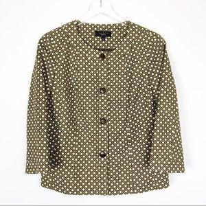 Talbots Knot Pattern Work Blazer Jacket Sz 10 NWOT